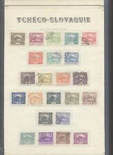 Czechoslovakia - Used Stamps on Collector Page D81