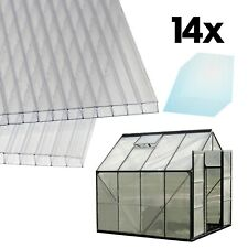 Doppelstegplatten Hohlkammerplatten 14x Kunststoff Polycarbonat Stegplatten 4mm