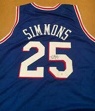 Ben Simmons Philadelphia 76ers Autographed Signed Jersey XL COA