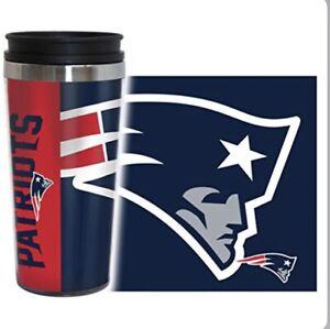 New England Patriots 14oz Full Wrap Travel Mug - Hype Style [NEW] NFL Tumbler