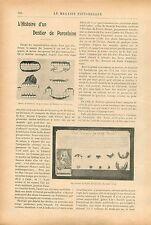 Dents Dentiers Porcelaine de Dubois de Chémant prothésiste GRAVURE PRINT 1913