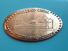 WELLAND CANAL Great Lakes Freighters CANADA Uncirculated Elongated Copper Coin