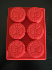 SPIDERMAN LOGO SILICONE BIRTHDAY MINI CAKE PAN CHOCOLATE CANDY MOLD ICE TRAY