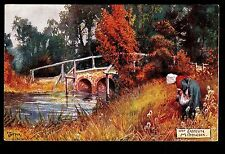 Tuck Picturesque Counties signed Jotter bridge Eastcote Middlesex Uk postcard