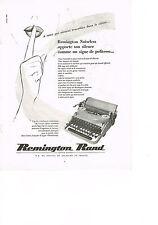 PUBLICITE ADVERTISING  1952    REMINGTON  RAND   machine à écrire