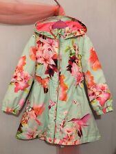 Beautiful Girls Designer Ted Baker Floral Hummingbird Jacket Mac Coat 3-4yrs💗