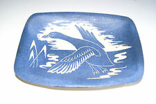 ERIC LEAPER BLUE SWAN PLATE   (S29)