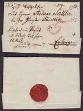 Germany 1813 Prefila Folded cover with original content to Erlangen........A5003