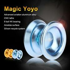 Magic Yoyo T8 Aluminum Alloy Metal Yoyo 8 Ball KK Bearing Lake Blue NEW A4O5