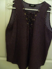 Ladie's sleeveless Valley Girl blouse Size 12