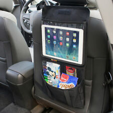 Universal Seat Back Tablet Holder Organiser Car Travel iPad Black Storage Pocket