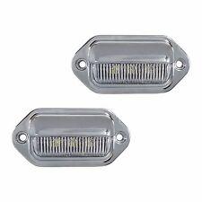2 LED LICENSE PLATE TAG LIGHT CHROME BOAT TRAILER RV TRUCK INTERIOR STEP LIGHT