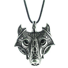 Retro Mens Stainless Steel Wolf Animal Head Pendant Necklace Chain Gift U87