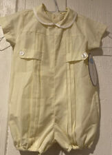 Lullaby Set Yellow Boy Bubble Romper Pleated 12 Months NWT Perfect For Easter