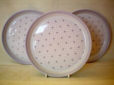 """Hornsea Romantic Set 3 x Side Tea Bread Butter Plates 6 5/8"""" dia Vintage"""