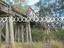 6 Photos ABANDONED GWYDIR RIVER RAILWAY BRIDGE .MOREE - INVERELL LINE. NSWGR