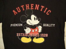 Disney Store Authentic Mickey Mouse Established 1928 Cartoon Black T Shirt L