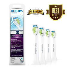 4 Philips Sonicare Diamond Clean TOOTHBRUSH HEADS HX6064