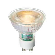 Saxby GU10 Bombilla LED SMD Cerámica Vidrio Transparente Blanco Cálido 5 W Regulable