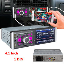 """4.1"""" 1 Din High Definition Touch Screen Car MP5 Player + Camera Mirror link USB"""