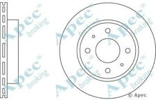 1x OE Quality Replacement Front Axle Apec Vented Brake Disc 4 Stud 240mm - Pair