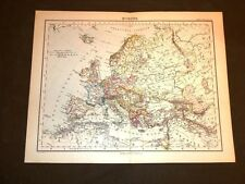 Carta geografica o mappa Berghaus del 1882 Ancient map Europa politica Europe