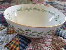 """Lenox ~ Holiday/Christmas Collection ~ 9"""" Serving Bowl ~ Free Shipping!"""