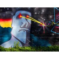 Graffiti Easter Island Head Laser Unframed Wall Art Print Poster Home Decor