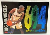 1994-95 Hoops - Big Numbers Rainbow #BN7 - CHRIS WEBBER - Golden State Warriors