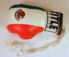 TITLE REARVIEW MIRROR HANGING MEXICAN BOXING GLOVE