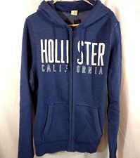 Hollister CA SIZE XL Men's Heavyweight Fleece Zip-Up Blue Hoodie Jacket NWT NEW
