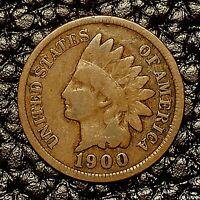 1900 Indian Head Cent ~ VERY GOOD (VG) Cndtn ~ $20 ORDERS SHIP FREE!
