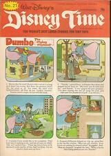 WALT DISNEY'S DISNEY TIME IPC MAGAZINES 1977 FINAL ISSUE # 21 Dumbo Bambi Mickey