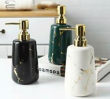 NEW Colorful Soap Dispenser Marble Bath Lotion Bottle Hotel Decor Ceramic 400 ml