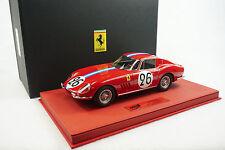 1/18 BBR FERRARI 275 GTB 24HR LEMANS 1966 RED DELUXE LEATHER BASE LE 5 PIECE MR