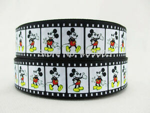 """Mickey Mouse Ribbon 1"""" (25mm) Wide 1m is £1.49 NEW UK SELLER FREE P&P"""