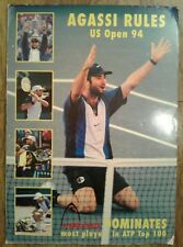 HEAD NIKE Andre Agassi US Open Game 1994 Tennis WINNER 16.5 X 23, RARE