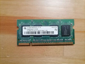 Infineon HYS64T64020HDL-3.7-A PC2-4200 (DDR2-533) 512 MB SO-DIMM Notebook Memory