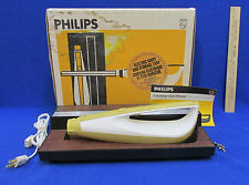 Vintage Electric Knife & Storage Tray Original Box Phillips Kb52293G Made In Usa