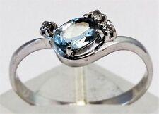 Ring Aquamarine White Gold Vintage & Antique Jewellery