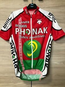 Descente Belarus Phonak Vintage Cycling Jersey Shirt Maglia Trikot Rare size S