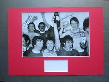LIVERPOOL LEGENDS 4 HAND SIGNED A3 MOUNTED PHOTO DISPLAY CASE NEAL HEIGHWAY- COA
