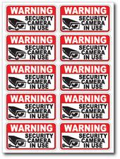 10 pack VIDEO SURVEILLANCE Security Burglar Alarm Decal  Warning Sticker Signs