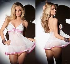 Sexy Lingerie Dress Babydoll Women Lace Nightdress Nightgown Sleepwear Thong Set