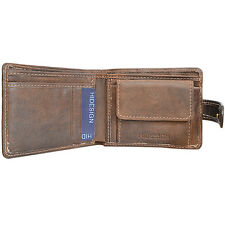 Hidesign Nubuck Brown Mens Genuine Leather wallet Card Coin Holder 60% off RRP