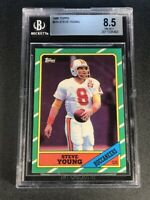 STEVE YOUNG 1986 TOPPS #374 ROOKIE RC NM-MINT+ BGS 8.5 NFL HALL OF FAMER