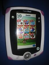 Leapfrog Leap Pad  Handheld Learning Tablet Pink 4 games loaded Jewel Train #400