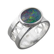 Schmuck-Michel Damen Ring Silber 925 Opal-Triplette 10x8 mm (3530)  Ringgröße 56