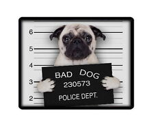 """FAWN PUG """"BAD DOG"""" PC COMPUTER MOUSEMAT MOUSE PAD - ANIMAL PET LOVER PHOTO GIFT"""
