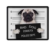 "CERBIATTO Pug ""BAD DOG"" PC COMPUTER MOUSEMAT TAPPETINO PER MOUSE-Animali Pet Amante FOTO REGALO"